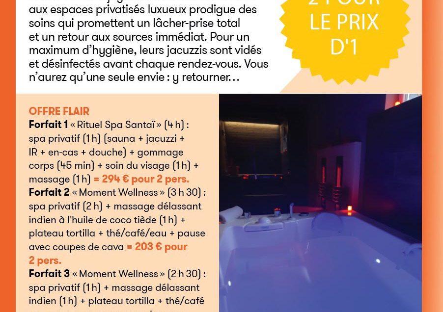 Flair Thalasso 2 au prix d'1 du 30.09.20 au 30.12.20